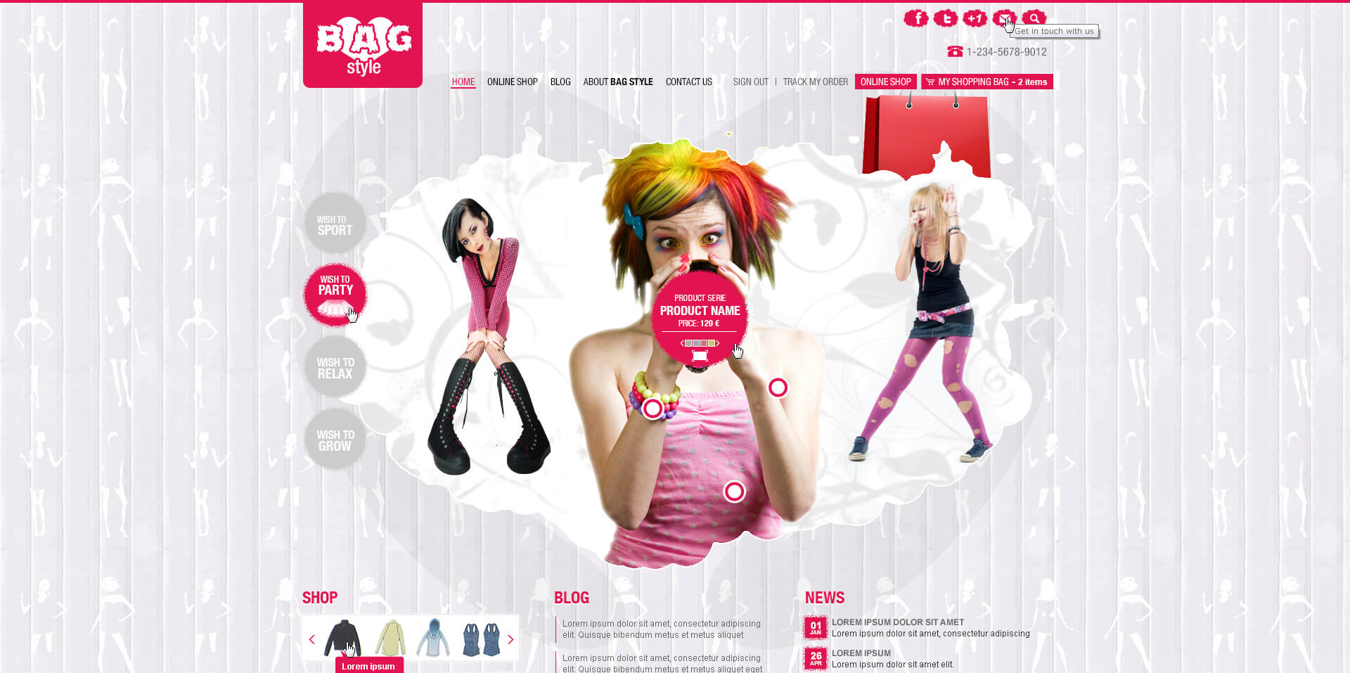 Bag Style Home Page