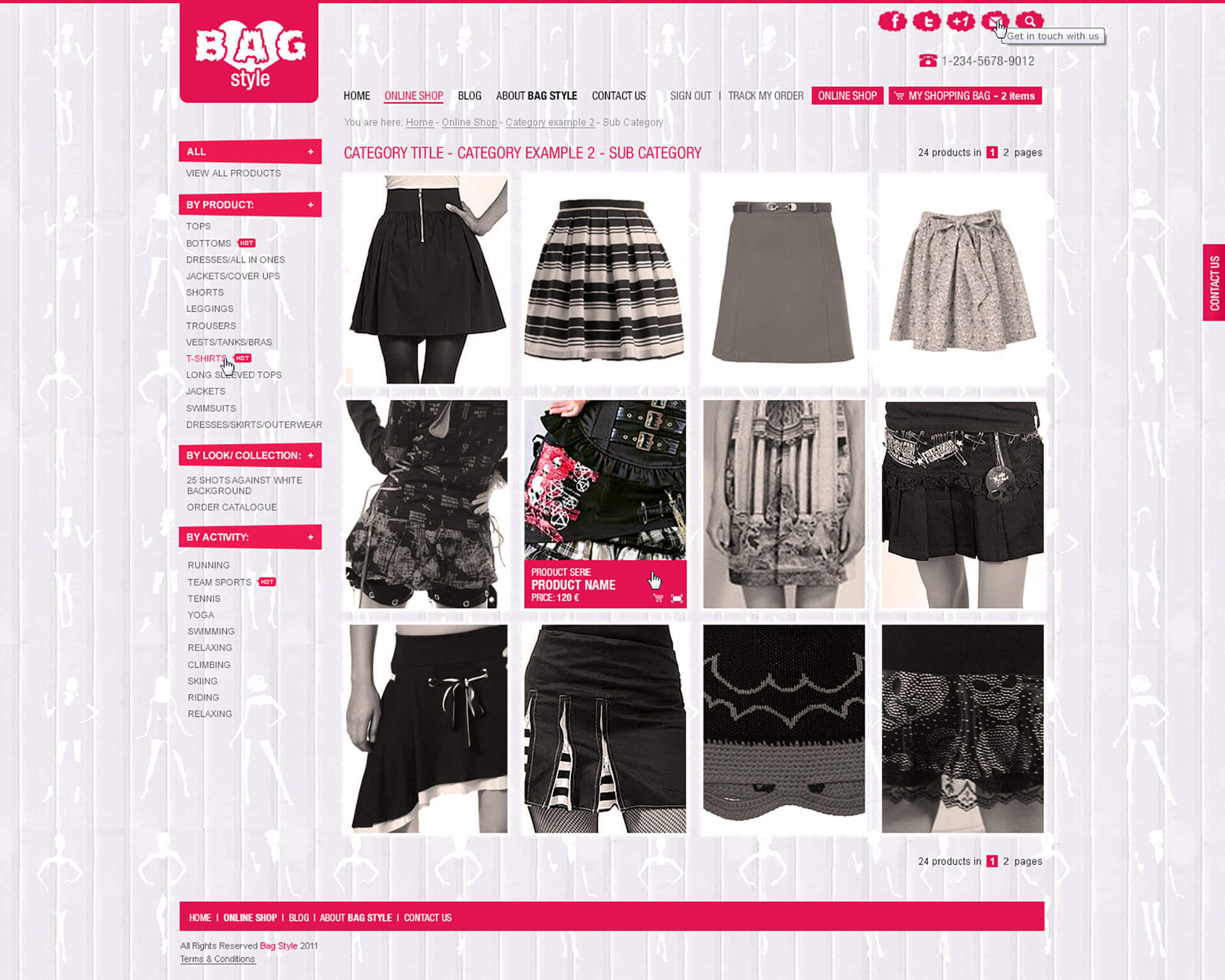 Bag Style Products Page