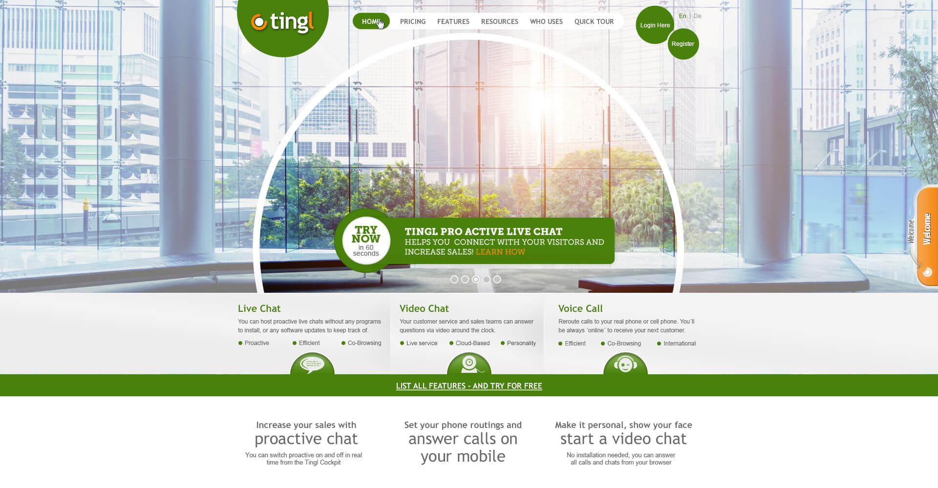Tingl Home Page